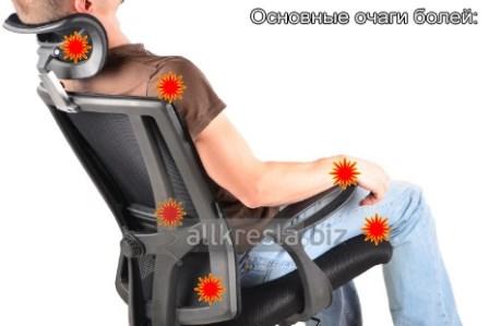 очаги боли в офисном кресле