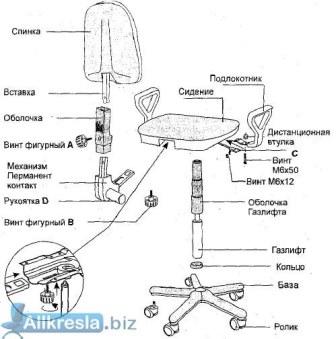 инструкция по сборке компьютерного кресла - фото 2