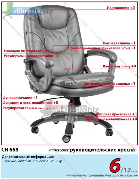 кресло руководителя экокожа ch 668