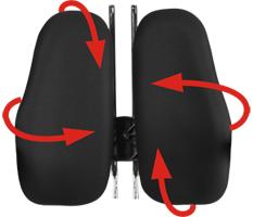 Эргономичное кресло спинка