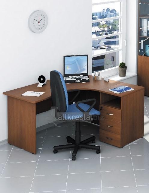 эргономичные столы со стационарными тумбами