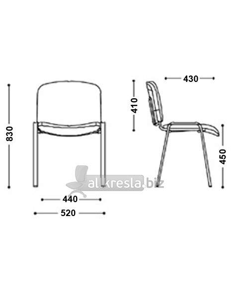размеры офисного стула эра